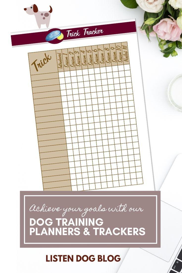 Printable Trick Dog Training Tracker Training Planner Training Tracker Planner Tracker