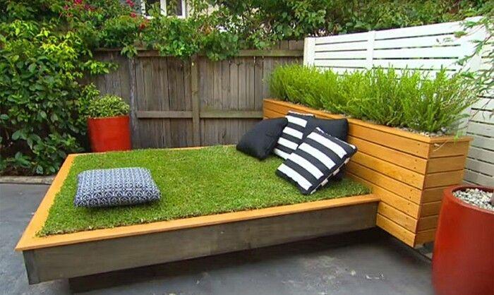 Fai da te un letto di erba con i pallet