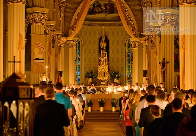 Apr. 7, 2012; Easter Vigil Mass in the Basilica of the Sacred Heart