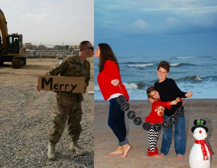 Love this Deployment Christmas card my daughter made this year! #deployment, #deploymentchristmascard