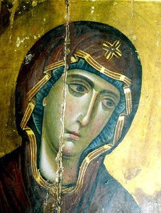 Icon of Virgin Mary from Mt. Sinai.