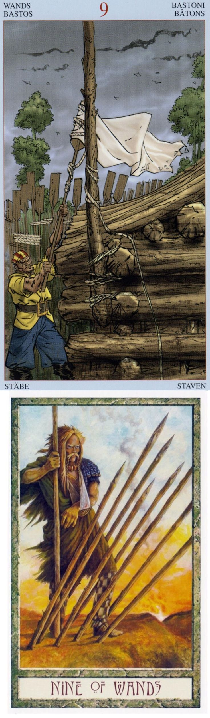 Nine of Wands: home stretch and close to goal but fatigued (reverse). Pirate Tarot deck and Druid Craft Tarot deck: tarotdeck and book, free tarot reading in hindi vs vintagetarotcards. Best 2017 tarot meanings major arcana and tarot bag diy.