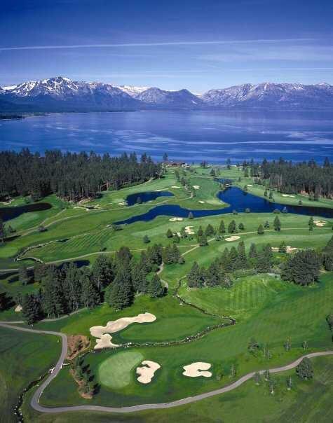 Edgewood Tahoe Golf Course, in Lake Tahoe, NV, has been played by Mark Twain, & John Muir! #GolfCourseOfTheDay | Rock Bottom Golf #RockBottomGolf