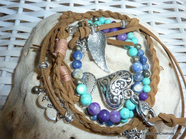 Intuition and Expression Love Wrap - handmade crystal energy gemstone jewellery Earth Jewel Creations Australia