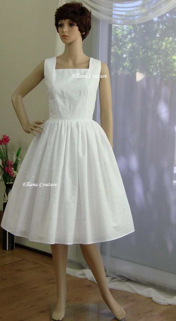 Hey, I found this really awesome Etsy listing at https://www.etsy.com/listing/101805223/daisy-cotton-eyelet-wedding-dress-retro
