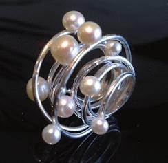 sterling zilveren ring met zoetwaterparels