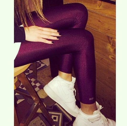 Aubergine shiny #pcpleggings   #pcpclothing #pcpinia