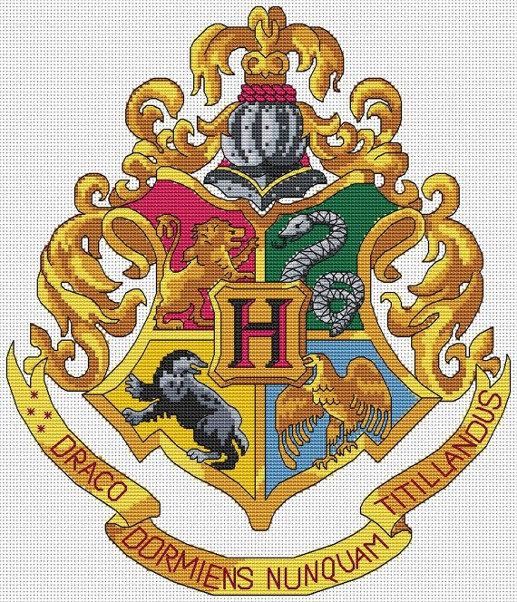 Hogwarts Crest Cross Stitch Kit  Complete by theworldinstitches, £24.99