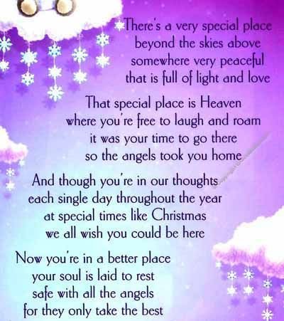 memorial poems for loved ones at christmas | 16 special designs are available, to navigate to any of the other ...