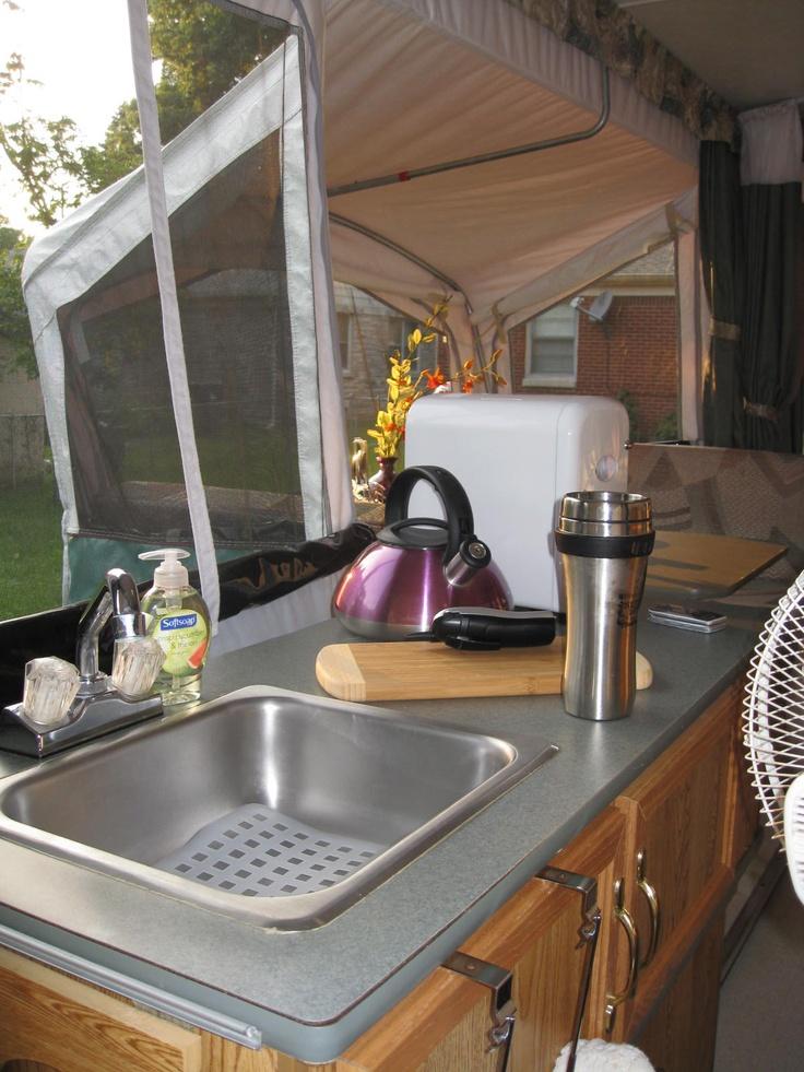Pop Up Camper Kitchen Mine Will Have A Keurig On That
