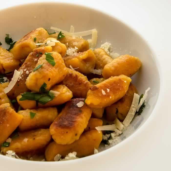 Pumpkin Ricotta Gnocchi with Garlic Sage Brown Butter