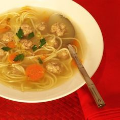 Dutch Meatball Soup.  From Tessa at Feral Kitchen (thanks, Judy Faris Davies)