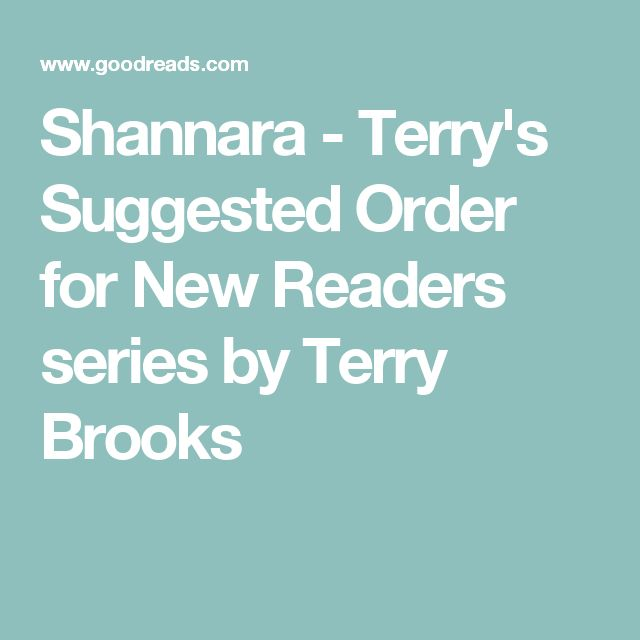 Shannara - Terry's Suggested Order for New Readers series by Terry Brooks