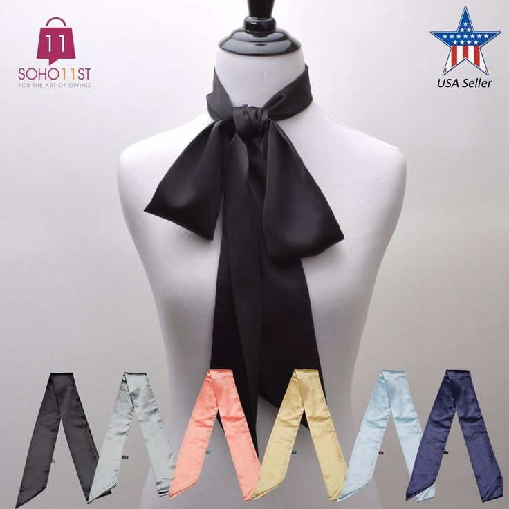 3 In 1 Women's Scarves Skinny Scarf Silk Blend Tie Scarf Wrap Solid Color S1071