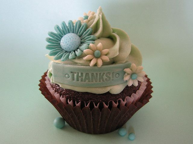 Thank You Cupcake by jdesmeules (Blue Cupcake), via Flickr