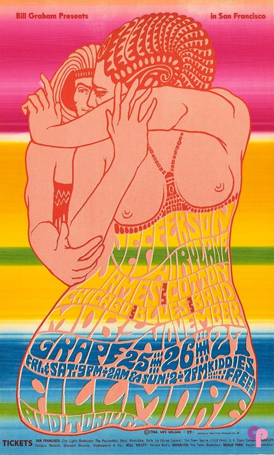 Classic Poster - Jefferson Airplane at Fillmore Auditorium 11/25-27/66 by Wes Wilson