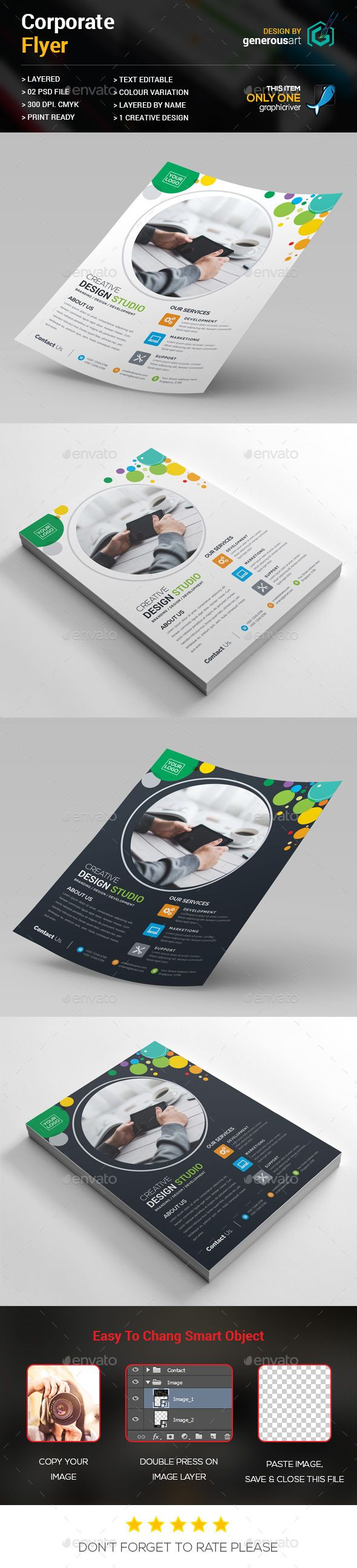 Colorful Flyer Template PSD #design Download: http://graphicriver.net/item/colorful-flyer/14319405?ref=ksioks
