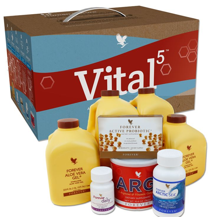 Forever Living Products is proud to introduce Forever Vital5 - our solution to healthy nutrition in one simple pack. Vital 5 contains Aloe Vera Gel, Forever Daily, Forever Active Probiotic, Forever Arctic Sea and ARGI+. Together these products help to support the Nutrient Superhighway.