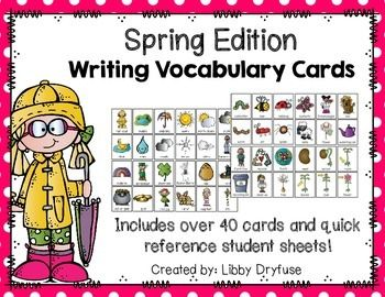 Writing Vocabulary Cards {Spring Edition}