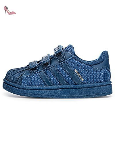 adidas Originals Energy Bounce 2 W Blanc-Noir-Bleu marine - Chaussures Baskets basses Femme
