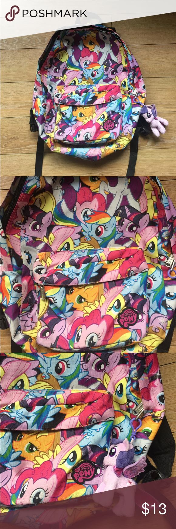 My Little Pony Backpack My little pony lounge fly Backpack well taken care of. There is a small my little pony key chain is attached can be taken off if you don't want it on. Lounge Fly Bags Backpacks