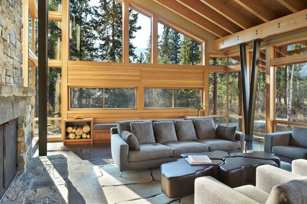 #livingroom #chalet #cottage | Mazama-House-FINNE-Architects-7a