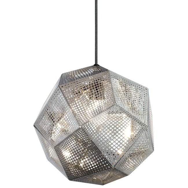 Etch Pendant By Tom Dixon Ets03sul Stainless Steel Pendant Light Steel Pendant Light Etched Steel