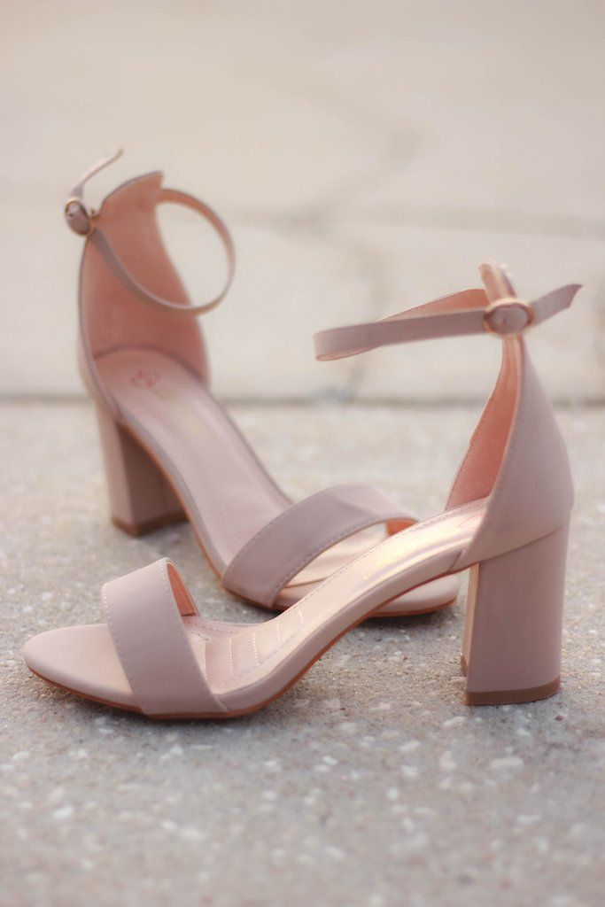 Nude heels that will go with every outfit! And a low enough heel that makes it c...