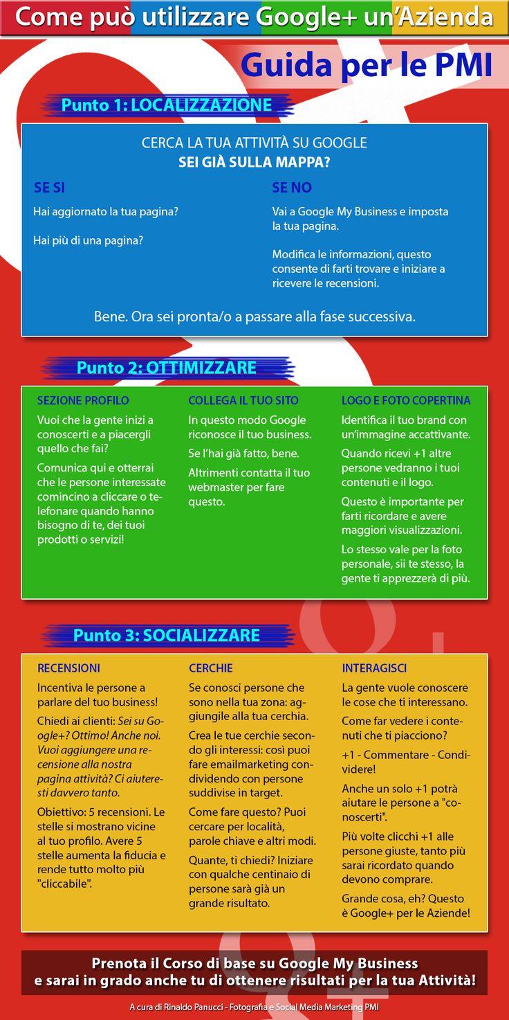 Infografica: Come può utilizzare Google+ un'Azienda. #googleplus #socialmedia #pmi