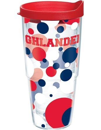 Collegiate | Radford University | Polka Dot Wrap with Lid | Tumblers, Mugs, Cups | Tervis
