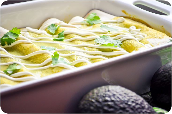 Chicken & Avocado Enchiladas - Lemon Sugar