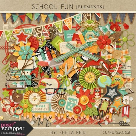 School Fun Elements Kit by Sheila Reid:)