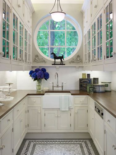 Love it! - Yes, even a small kitchen can be beautiful! Traditional Style - White Kitchens