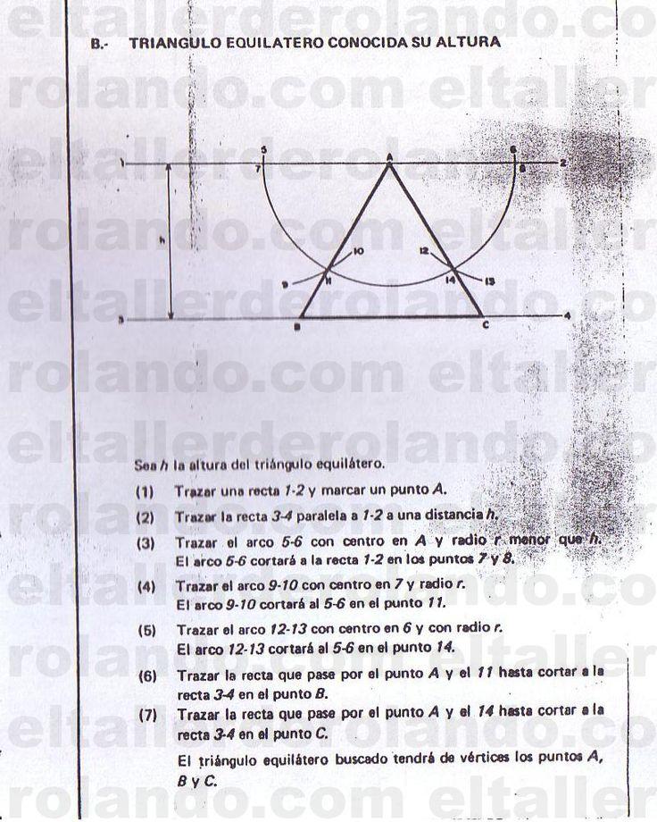 TRIANGULO EQUILATERO CONOCIDA SU ALTURA