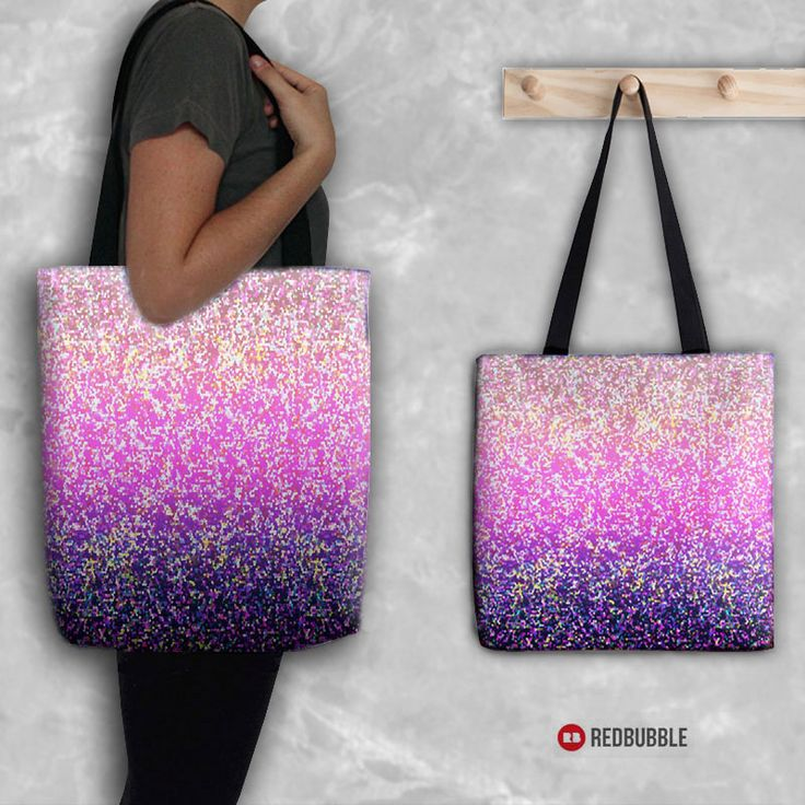 "SOLD Tote Bag ""Glitter Graphic"" https://www.redbubble.com/people/medusa81/works/10345900-glitter-graphic?asc=u #Redbubble #Tote #Bag #Glitter #Graphic #Texture #pink #purple #bright #shimmer #accessories #bags"