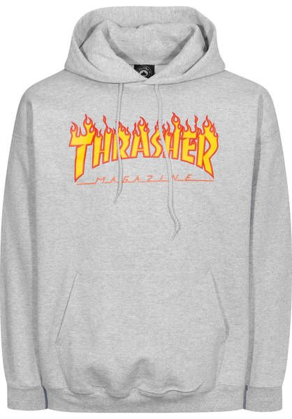 Thrasher Flame Hoodie greymottled | Titus Onlineshop