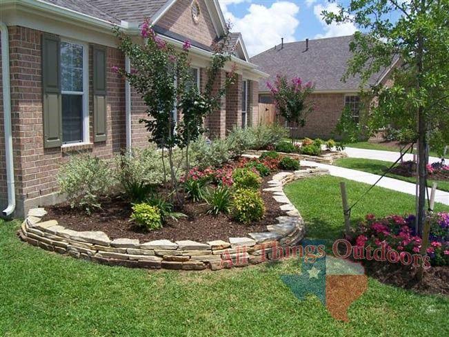 Pin By Jaya Prasad On Gardening Stone Landscaping Front
