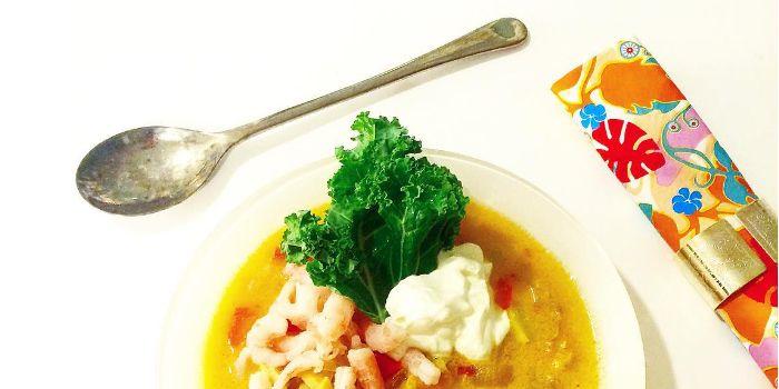Thaisoppa – vit fisk och kokosmjölk – Paleo