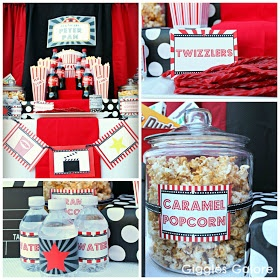 Giggles Galore: Outdoor Movie Night Party & Giveaway