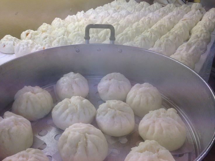 Viet Q Foods - Banh Bao - pork steamed buns with free farm pork, boiled egg and pork sausage