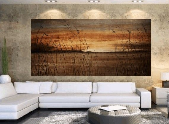 painting acrylic painting brown beige landscape painting oil painting j.anthony