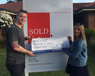 Clients Jess and Bryce are happy with Amalain's service in buying their house. #amalain #wemakeiteasy #melbre