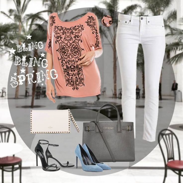 Isn't it perfect for Spring? Style No.14359S #vocalapparel #voiceofcalifornia #top #TTOD #outfits #women #jeans #tunic #fashion #boutiques #spring #peach #LA #California