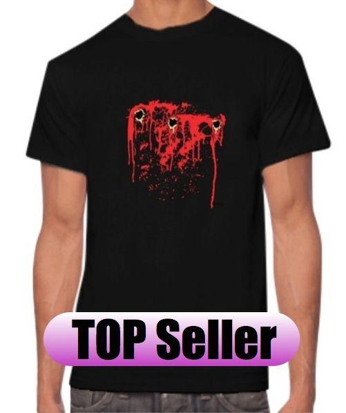 Bullet Hole T Shirt Men and Women