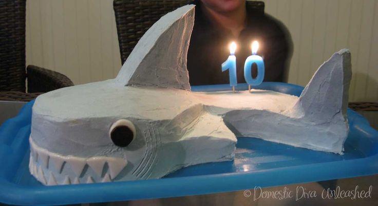 Shark Cake I made for my son's 10th birthday.