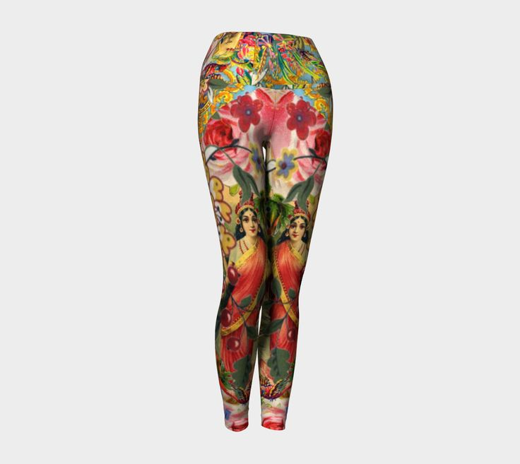 Bohemian Goddess Yoga Leggings by AtelierBaba. Work out in comfort! Print never fades. Lovely
