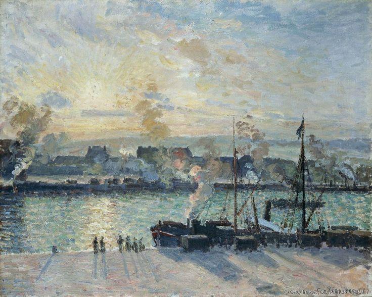 """""""Le port de Rouen""""  par Camille Pissarro"""