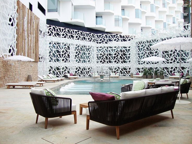 Luxurious outdoor pool area at the Hard Rock Hotel Ibiza