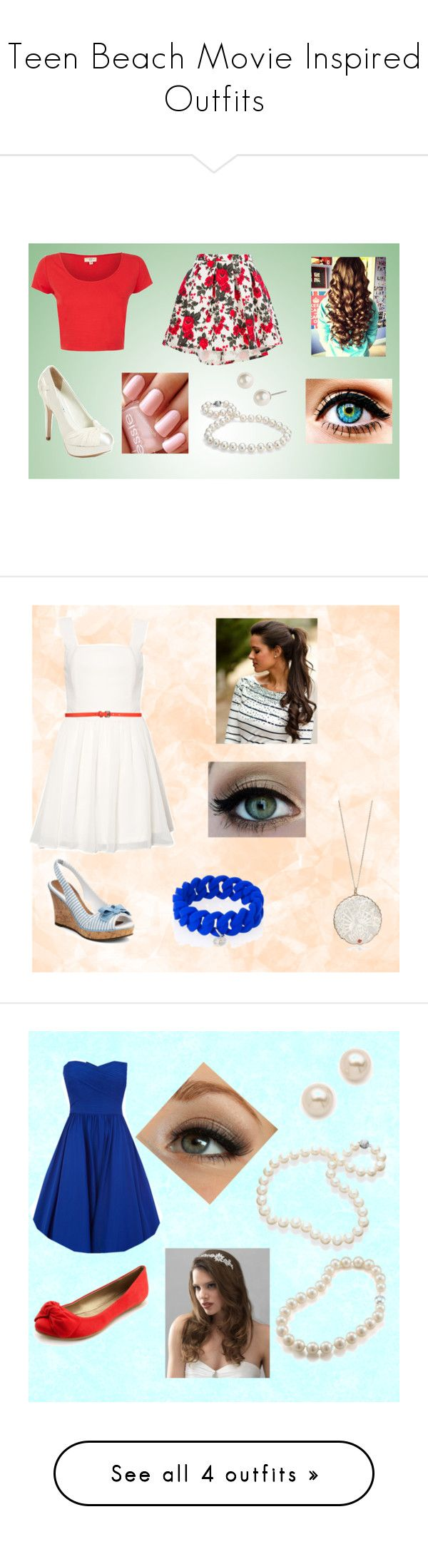 """""""Teen Beach Movie Inspired Outfits"""" by analisa-tapia ❤ liked on Polyvore featuring MSGM, David Tutera, Blue Nile, Givenchy, Essie, modern, Sperry, Rare London, COSTUME NATIONAL and Marc by Marc Jacobs"""