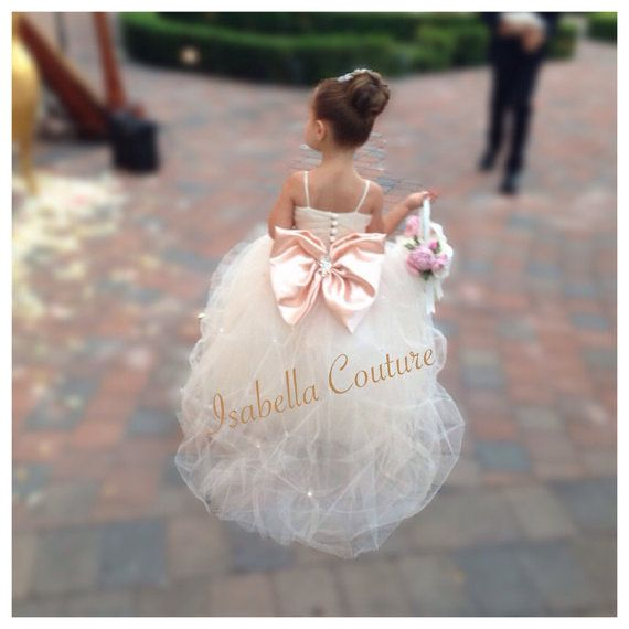 Flower Girl Dress robe en dentelle filles par IsabellaCoutureShop